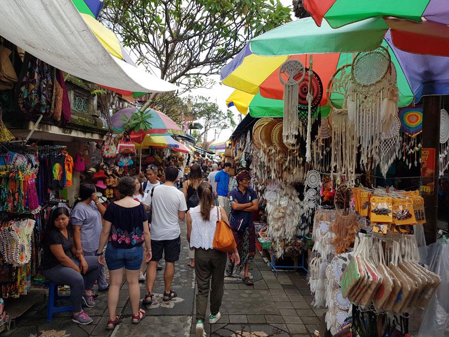 Shopping at Ubud Market