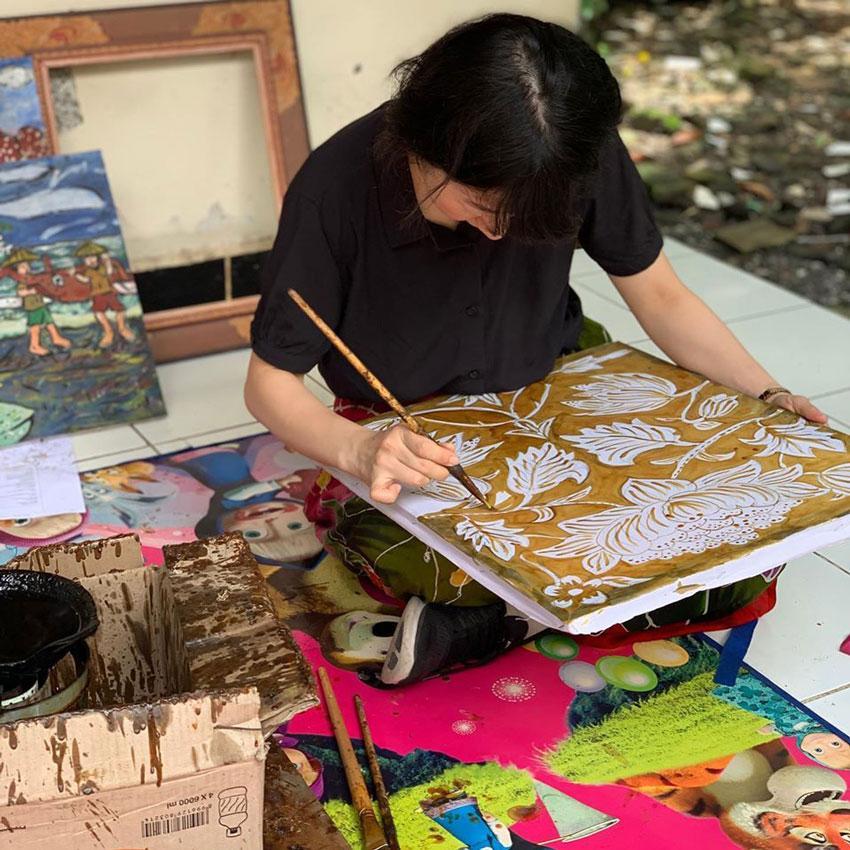 Balinese Batik at I Nyoman Warta Batik Class