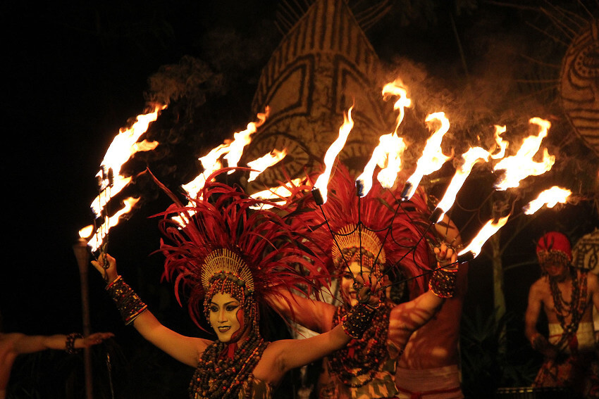 Fire Dance in Night Safari