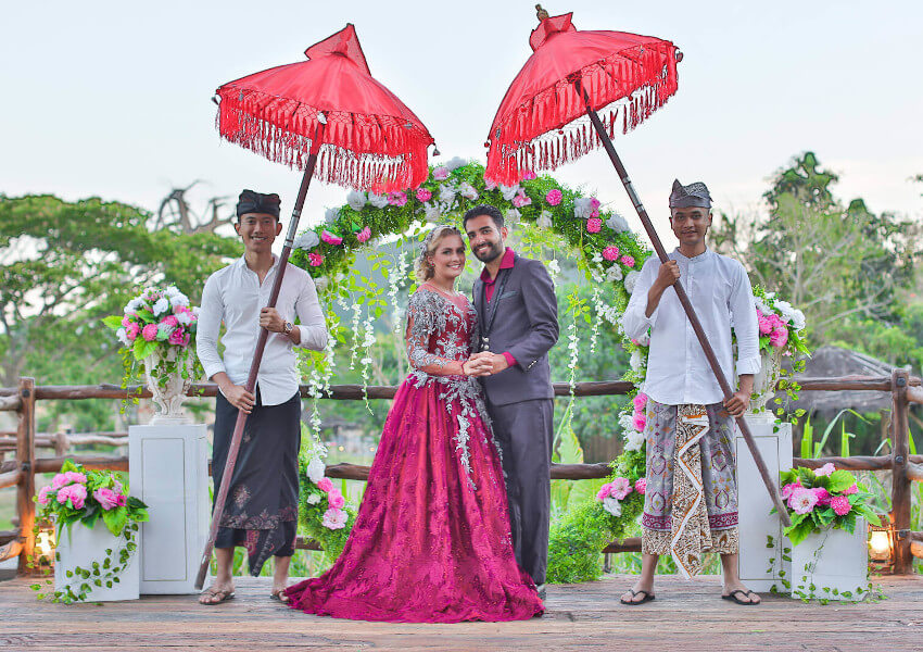 Wedding Ceremony at Bali Safari Park